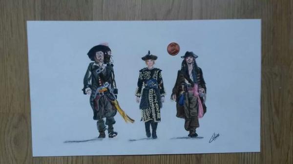 Orlando Bloom, Johnny Depp, Keira Knightley by Quiva